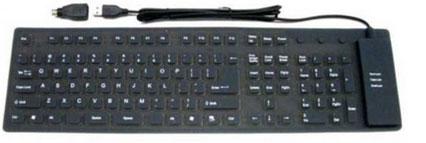 <strong>Flexibel toetsenbord USB</strong> / waterdicht – <br><strong>Flexible keyboard USB</strong> / waterproof